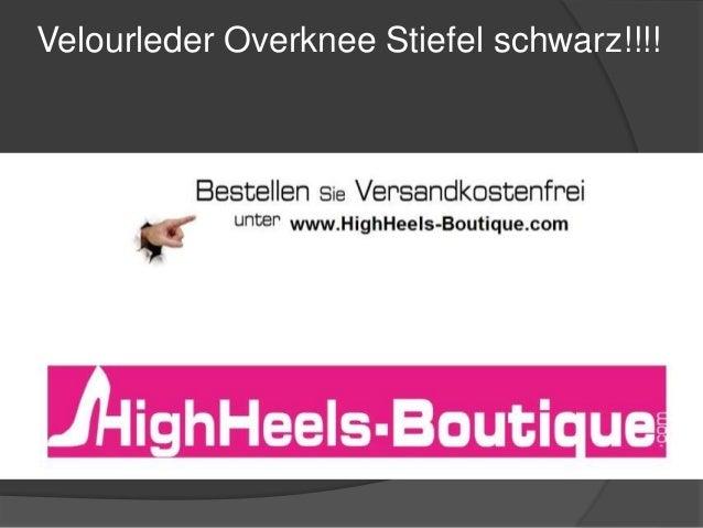 Velourleder Overknee Stiefel schwarz!!!!