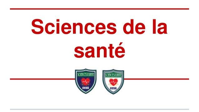 Sciences de la santé