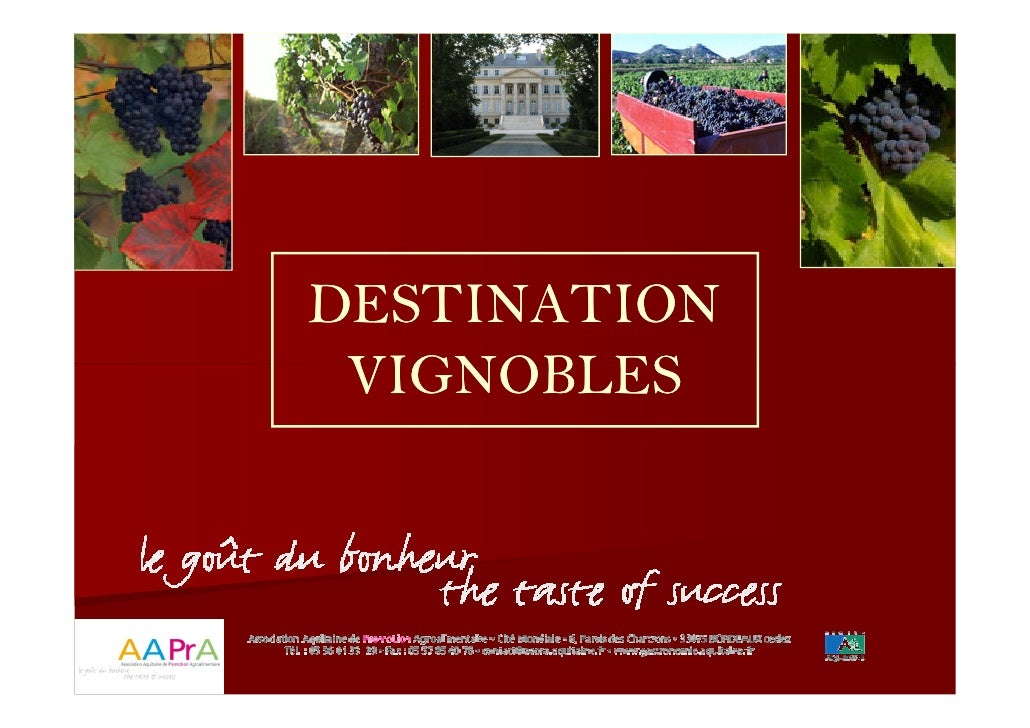 MOPA journée Destination vignobles : Pierre Cambar AAPrA, les equipements structurants dans l'oenotourisme 15 04 2010