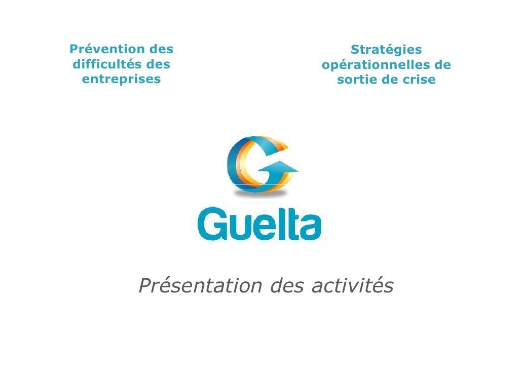 Presentation Activites Guelta