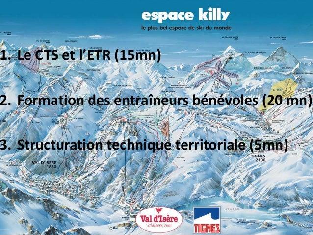 1. Le CTS et l'ETR (15mn) 2. Formation des entraîneurs bénévoles (20 mn) 3. Structuration technique territoriale (5mn)