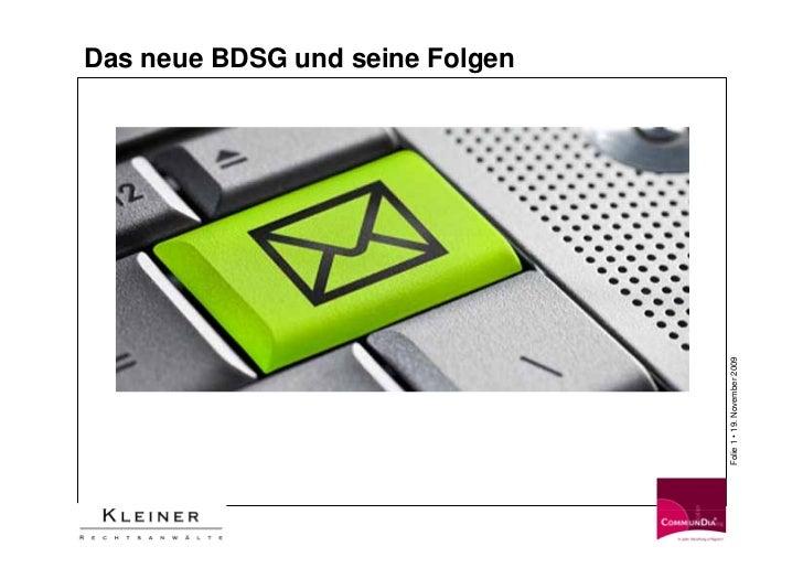 Das neue BDSG und seine Folgen                                      Folie 1 • 19. November 2009