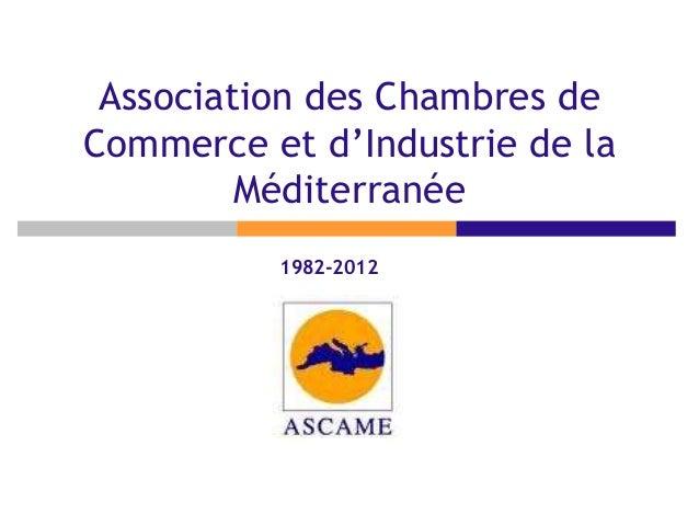 Association des Chambres deCommerce et d'Industrie de laMéditerranée1982-2012