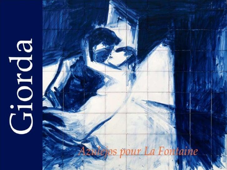 Azulejos pour La Fontaine de GIORDA         UN ENSEMBLE DE 27 PEINTURES SUR CÉRAMIQUE INSPIRÉES DES FABLES.UNE ŒUVRE SINGU...