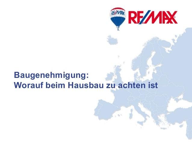Deutschland Mitte Baugenehmigung: Worauf beim Hausbau zu achten ist