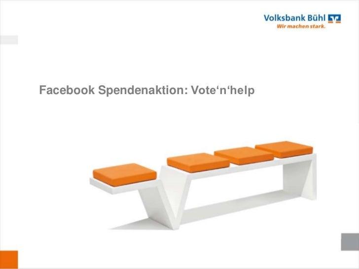 Facebook Spendenaktion: Vote'n'help
