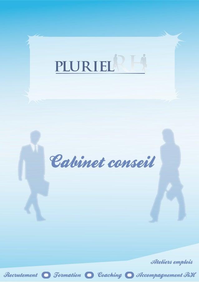 Présentation cabinet conseil pluriel rh