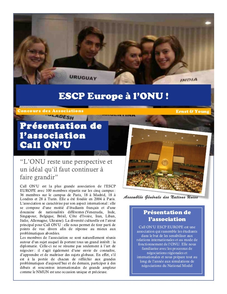 Présentation call on'u escp europe   concours ernst&young