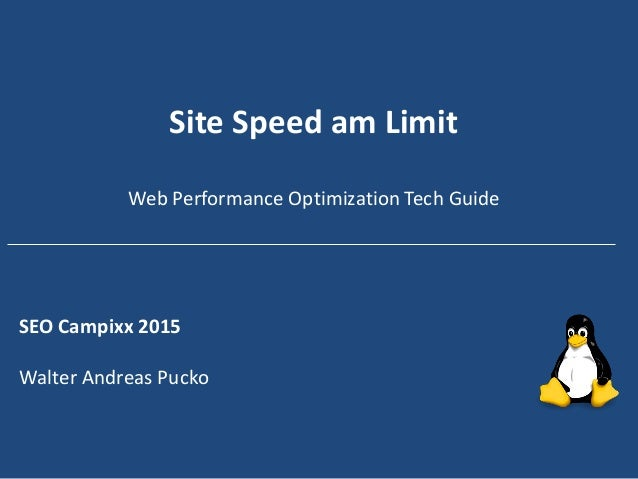 Site Speed am Limit Web Performance Optimization Tech Guide SEO Campixx 2015 Walter Andreas Pucko