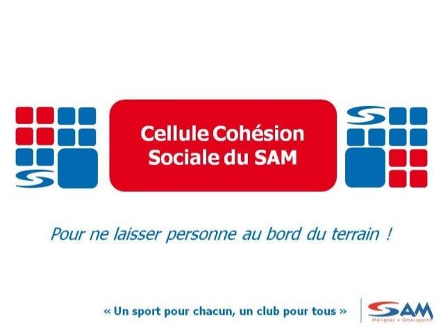 Présentation Cellule de Cohésion Sociale du SAM