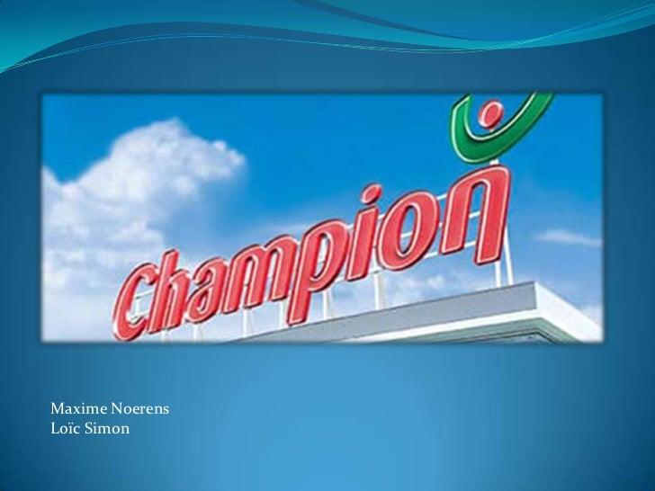 PréSentatie Champion