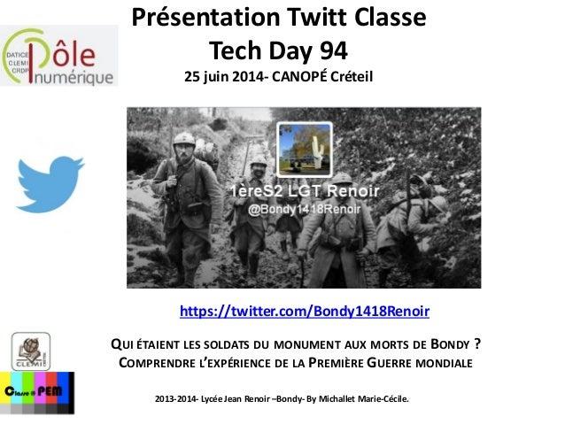 https://twitter.com/Bondy1418Renoir QUI ÉTAIENT LES SOLDATS DU MONUMENT AUX MORTS DE BONDY ? COMPRENDRE L'EXPÉRIENCE DE LA...