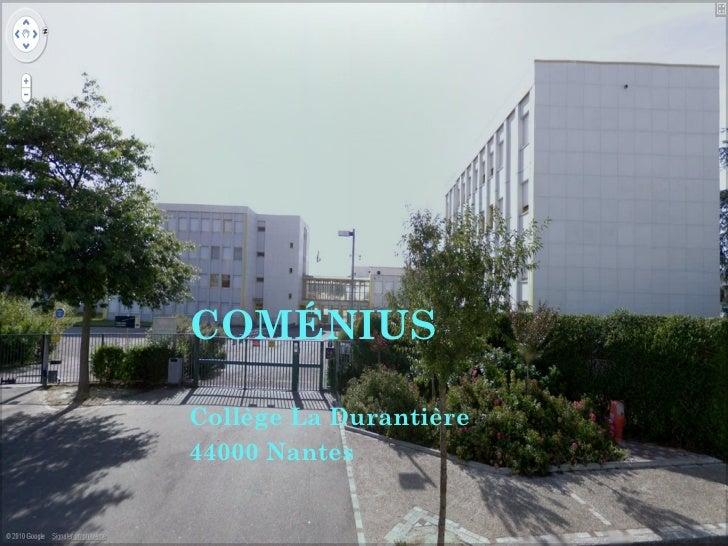 COMÉNIUS Collège La Durantière  44000 Nantes