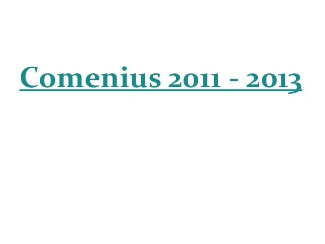 Comenius 2011 - 2013