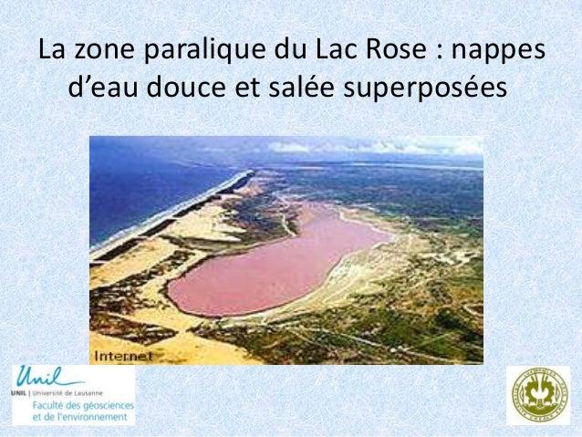La zone paralique du Lac Rose : nappes d'eau douce et salée superposées 1