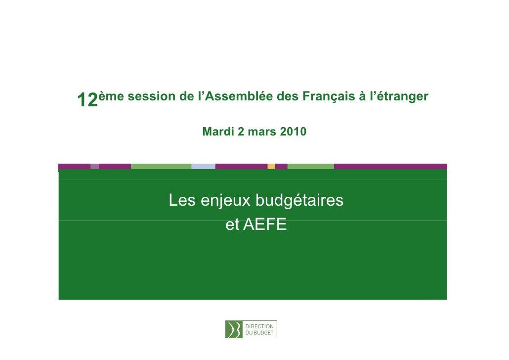 1     12ème session de l'Assemblée des Français à l'étranger                  l Assemblée                l étranger       ...