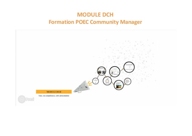 MODULE DCH Formation POEC Community Manager