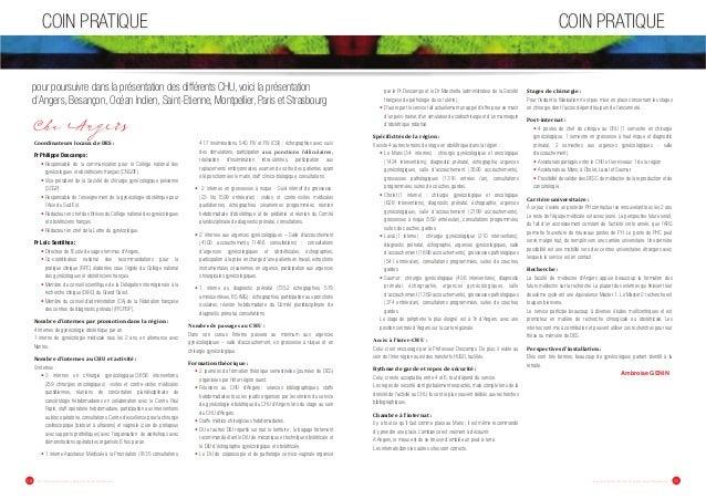 COIN PRATIQUE COIN PRATIQUE  pour poursuivre dans la présentation des différents CHU, voici la présentation  d'Angers, Bes...