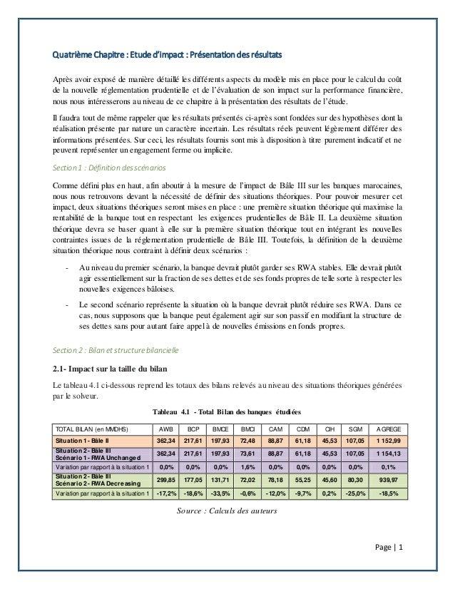 Page | 1 Quatrième Chapitre : Etude d'impact : Présentation des résultats Après avoir exposé de manière détaillé les diffé...
