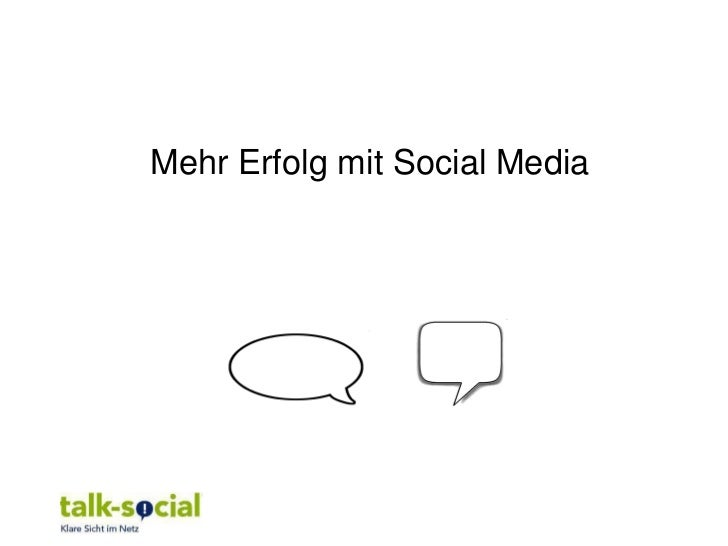 Mehr Erfolg mit Social Media
