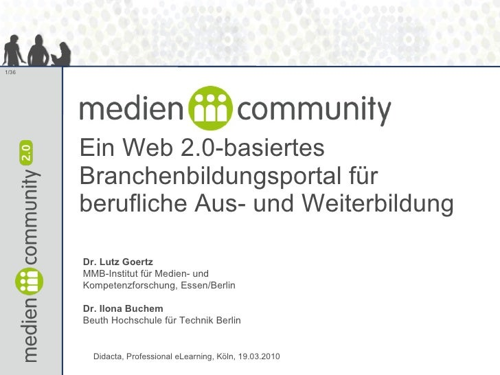mediencommunity - ein Web 2.0-basiertes Branchenbildungsportal