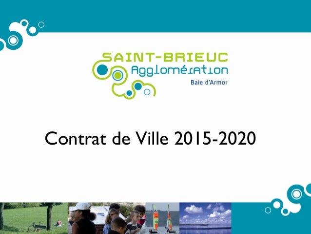 Contrat de Ville 2015-2020