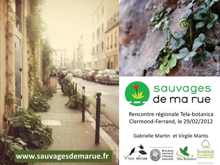 M.Gauvain                                       Rencontre régionale Tela-botanica                                       Cl...