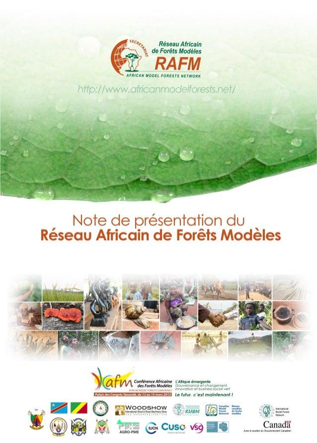Les OriginesLe RAFM est une Organisation Internationale africaine à but non lucratif, incorporéau Canada par Lettres Paten...