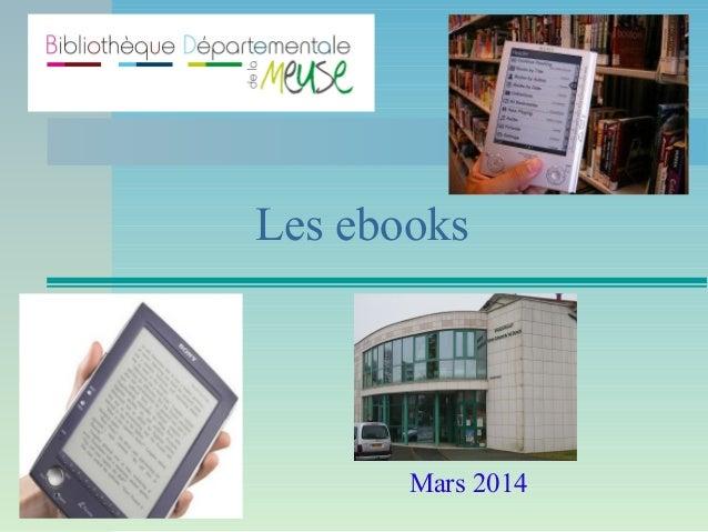 Présentation ebooks mars 2014