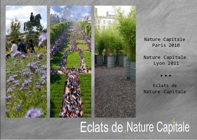 Nature CapitaleParis 2010Nature CapitaleLyon 2011Eclats deNature CapitaleEclats de