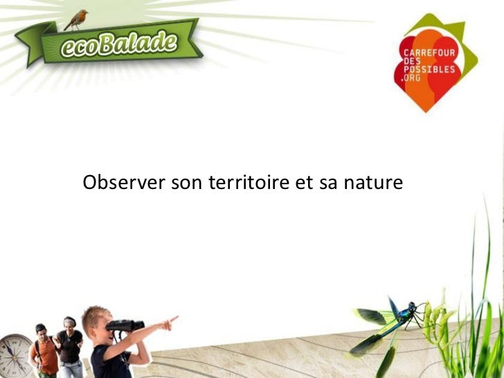 Observer son territoire et sa nature