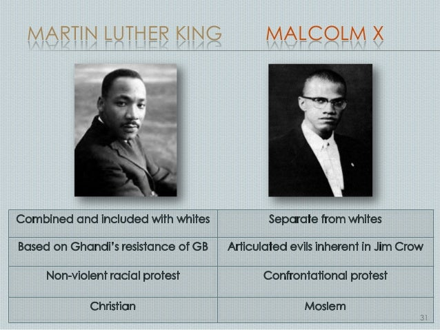 a comparison of accomplishements of martin luther king and malcolm x Malcolm x and martin luther king, jr african americans are fortunate to have leaders who fought for a difference in black america martin luther king, jr and malcolm x are two powerful men in particular who brought hope to blacks in the united states both preached the same message about .