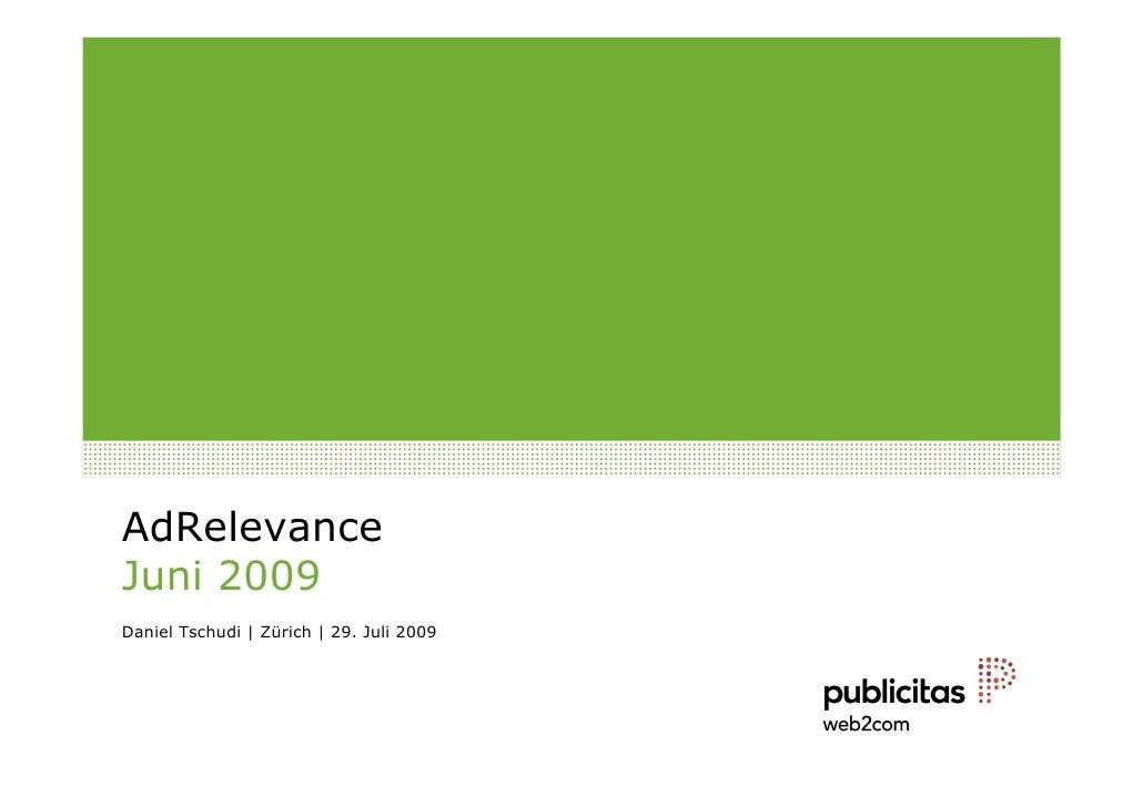 Ad Relevance Juni 2009