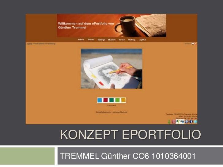 KONZEPT EPORTFOLIOTREMMEL Günther CO6 1010364001