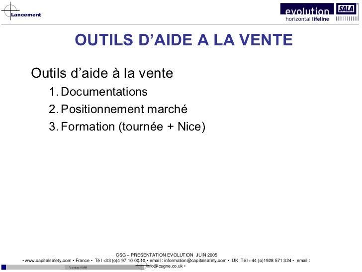 OUTILS D'AIDE A LA VENTE <ul><li>Outils d'aide à la vente </li></ul><ul><ul><li>Documentations </li></ul></ul><ul><ul><li>...