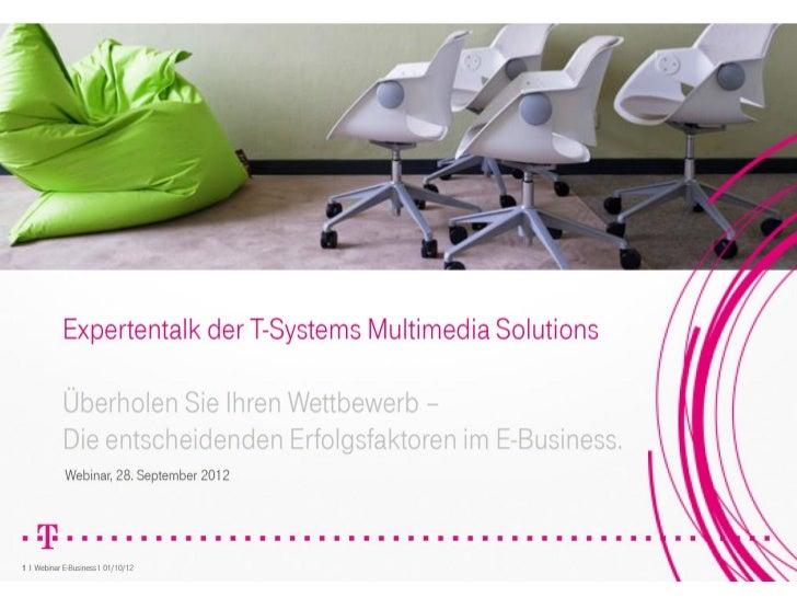 Expertentalk: Überholen Sie Ihren Wettbewerb mit E-Business!