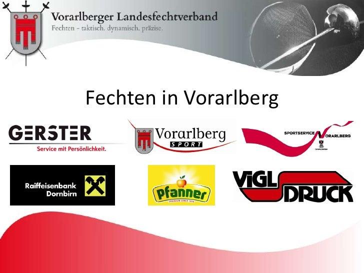 Präsentation Fechten in Vorarlberg