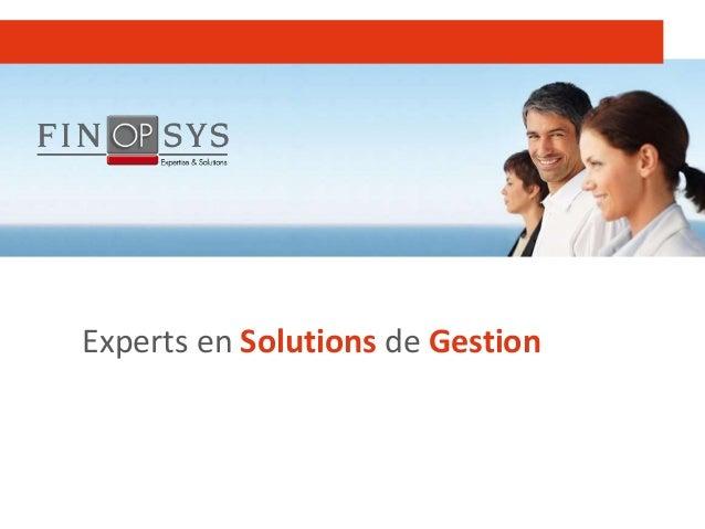 1 Experts en Solutions de Gestion