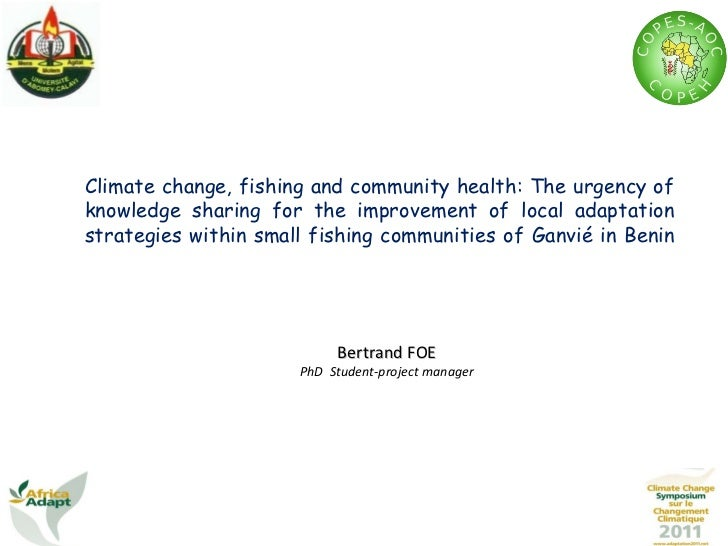 Climate change, fishing and community health: The urgency of knowledge sharing for the improvement of local adaptation str...