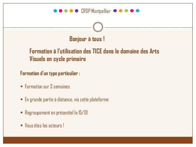 Présentation formation Carnet de voyage TICE