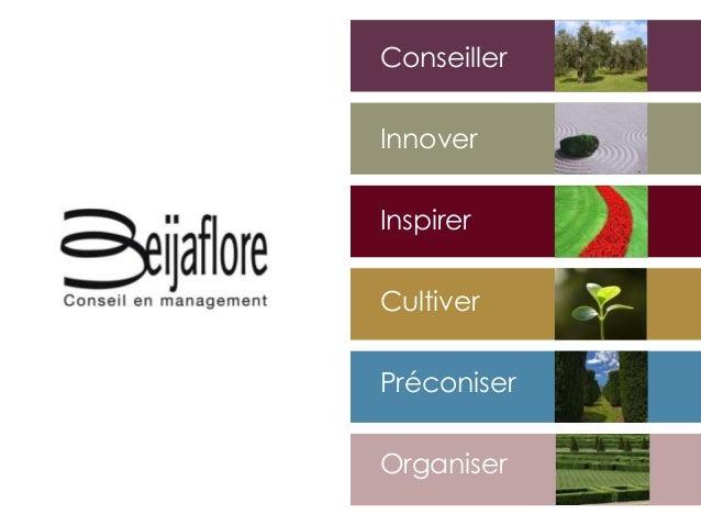 Conseiller Innover Inspirer Cultiver Organiser Préconiser