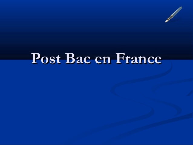 Post Bac en France