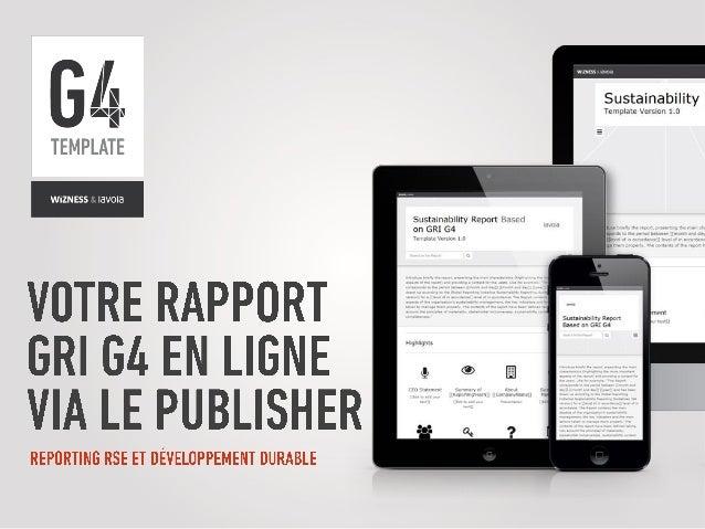 Introduction du Template G4 - Par le Wizness Publisher