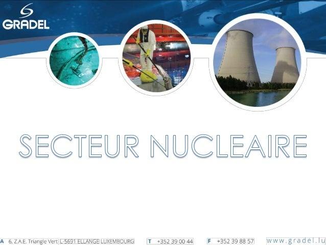 Equipements sur mesure Démantèlement Maintenance Réacteur Nettoyage Piscines Introduction1 2 3 4 5 Outils spéciaux6 Presta...