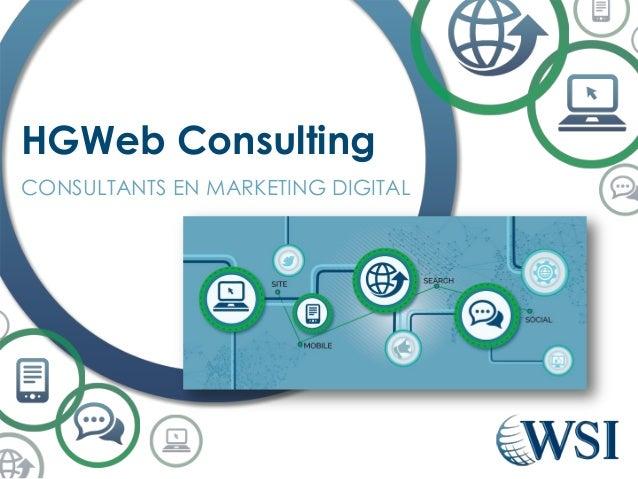 CONSULTANTS EN MARKETING DIGITAL HGWeb Consulting
