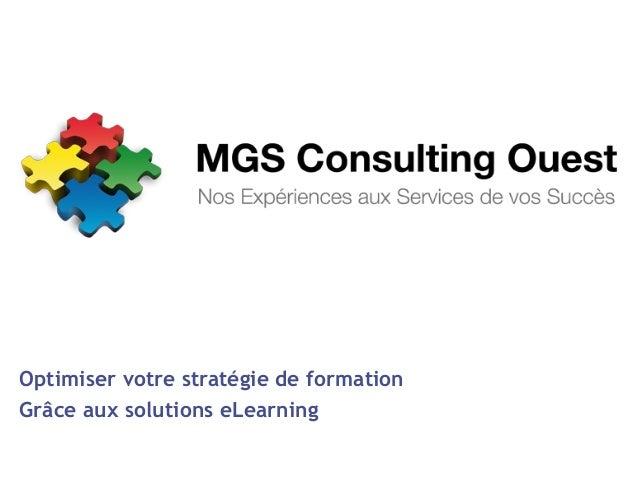 Optimiser votre stratégie de formation Grâce aux solutions eLearning
