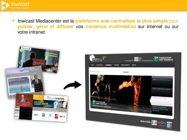  Inwicast Mediacenter est la plateforme web centralisée la plus simple pour  publier, gérer et diffuser vos contenus mult...