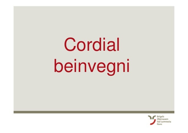 Cordial beinvegni