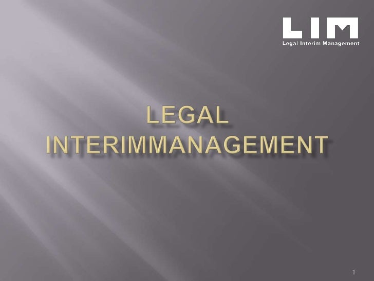 Legal Interim Management
