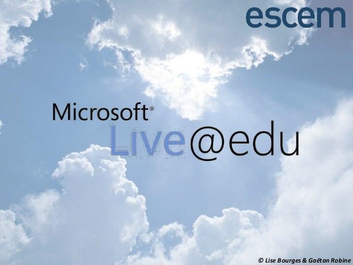 Présentation live@edu escem